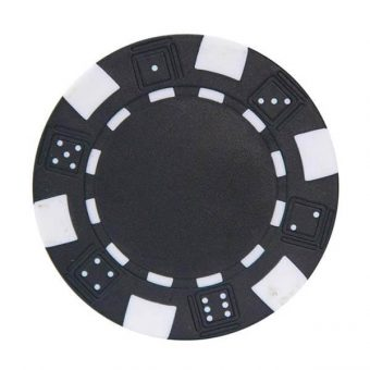 jeton de poker noir
