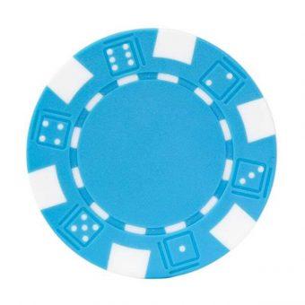 jeton poker bleu