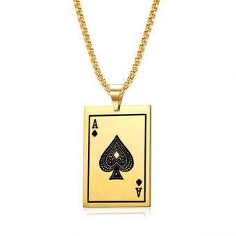 pendentif carte poker