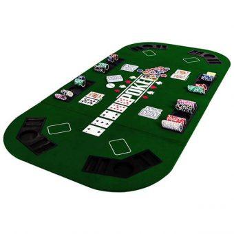 dessus table poker pliante